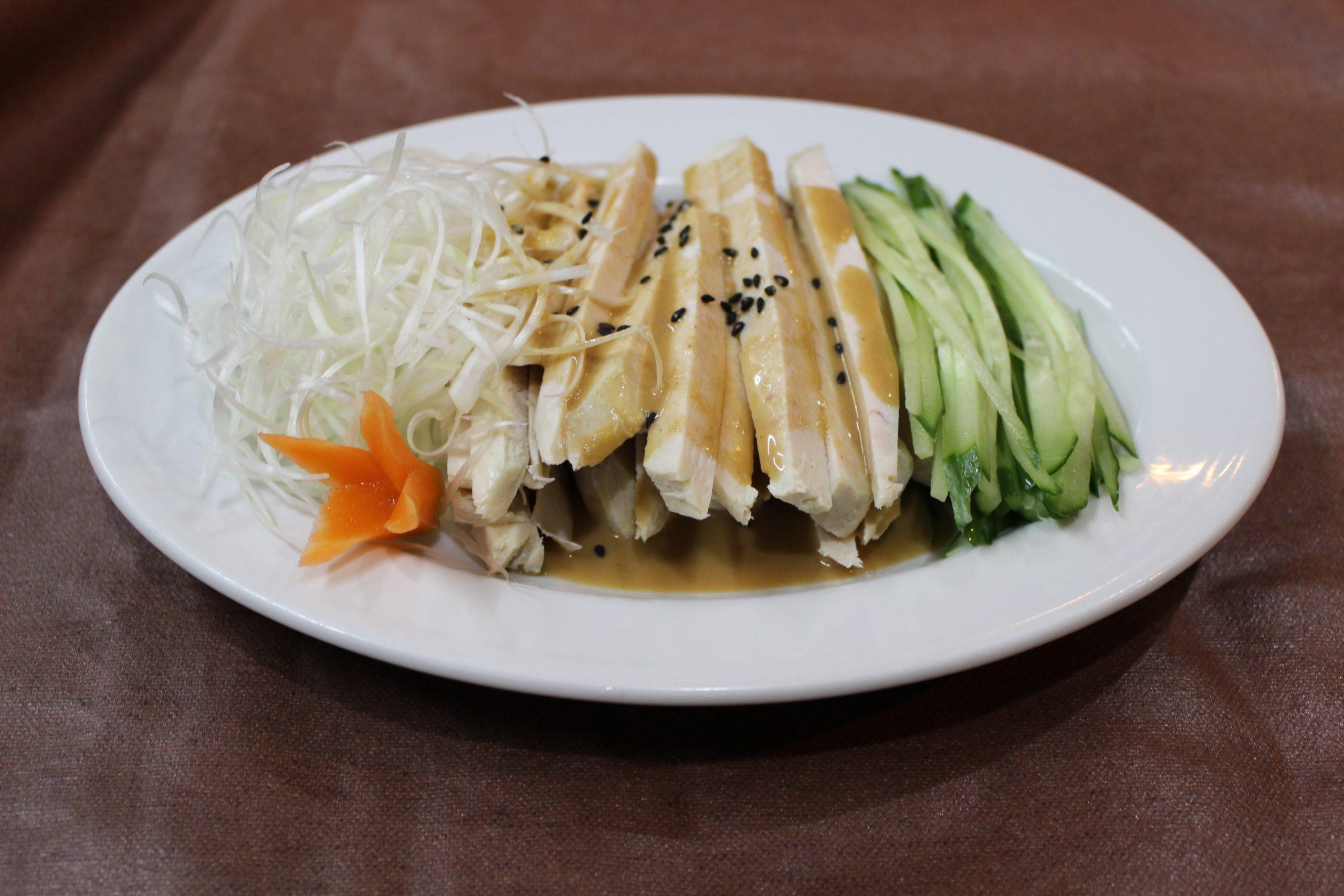【棒棒鶏】蒸し鳥のゴマ風味サラダ