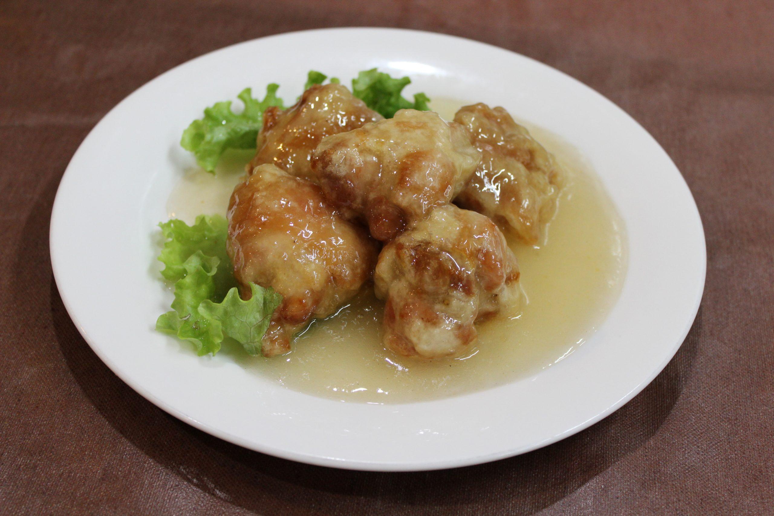 【油淋鶏】若鶏の唐揚げのソースあえ