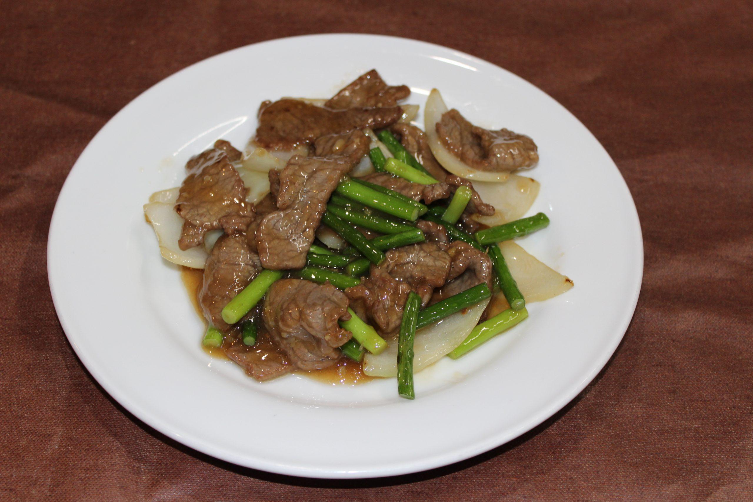 【牡蠣油牛肉】牛肉のオイスターソース炒め
