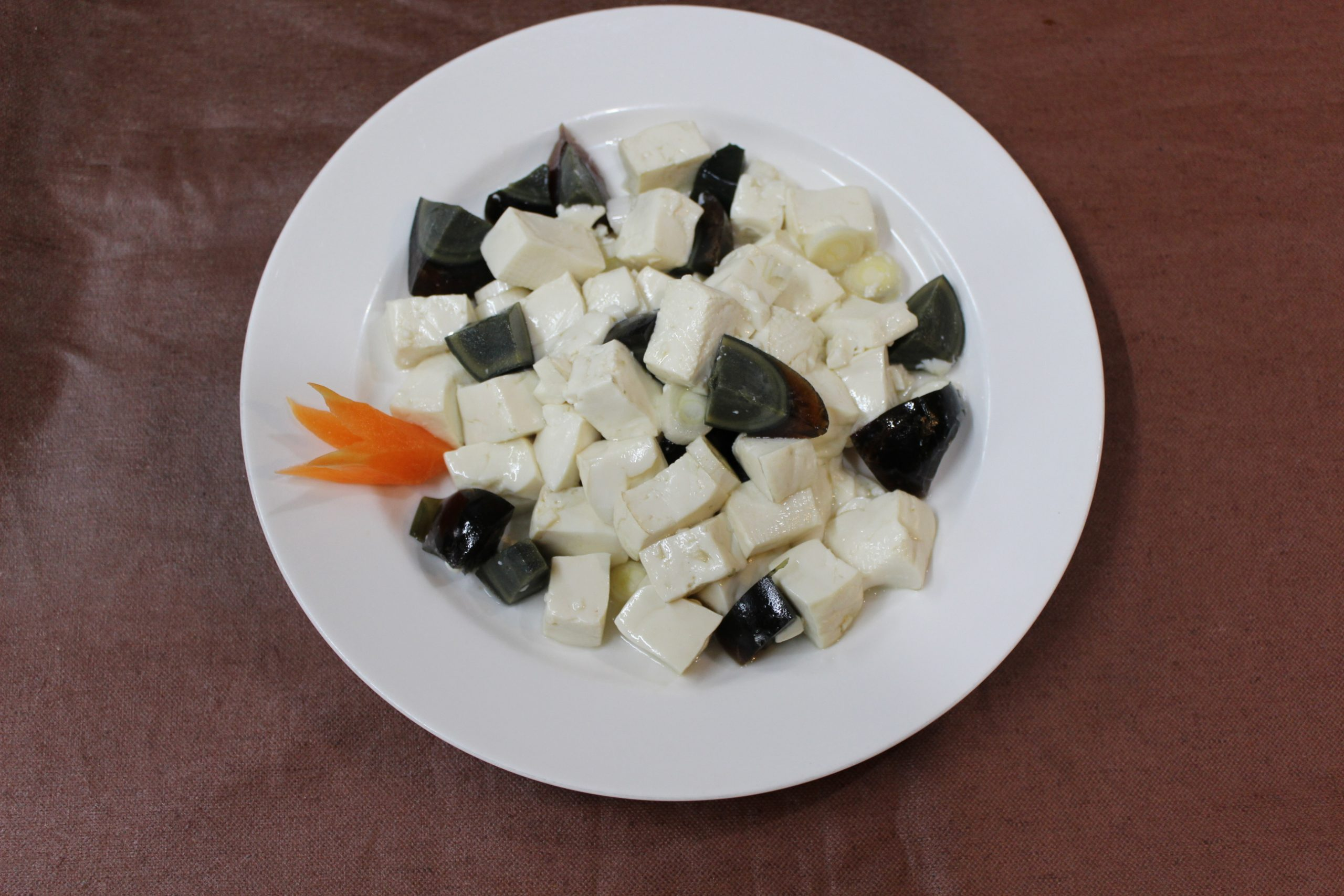 【皮蛋拌豆腐】ピータンと豆腐の和え物