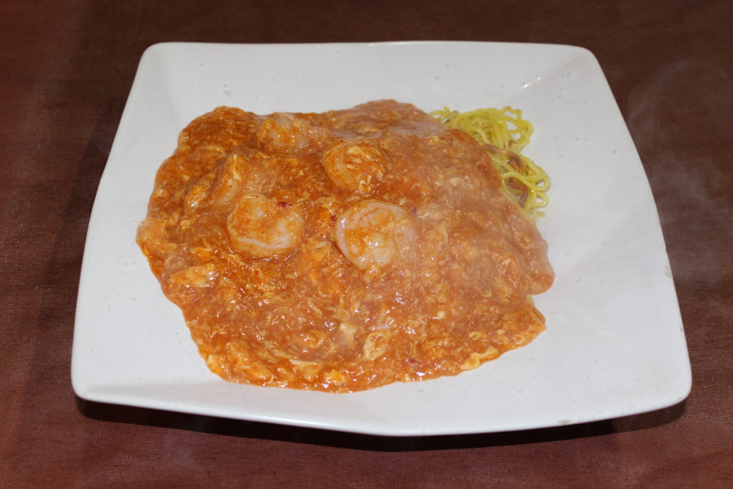 【蝦仁炒麺】エビチリ焼きそば