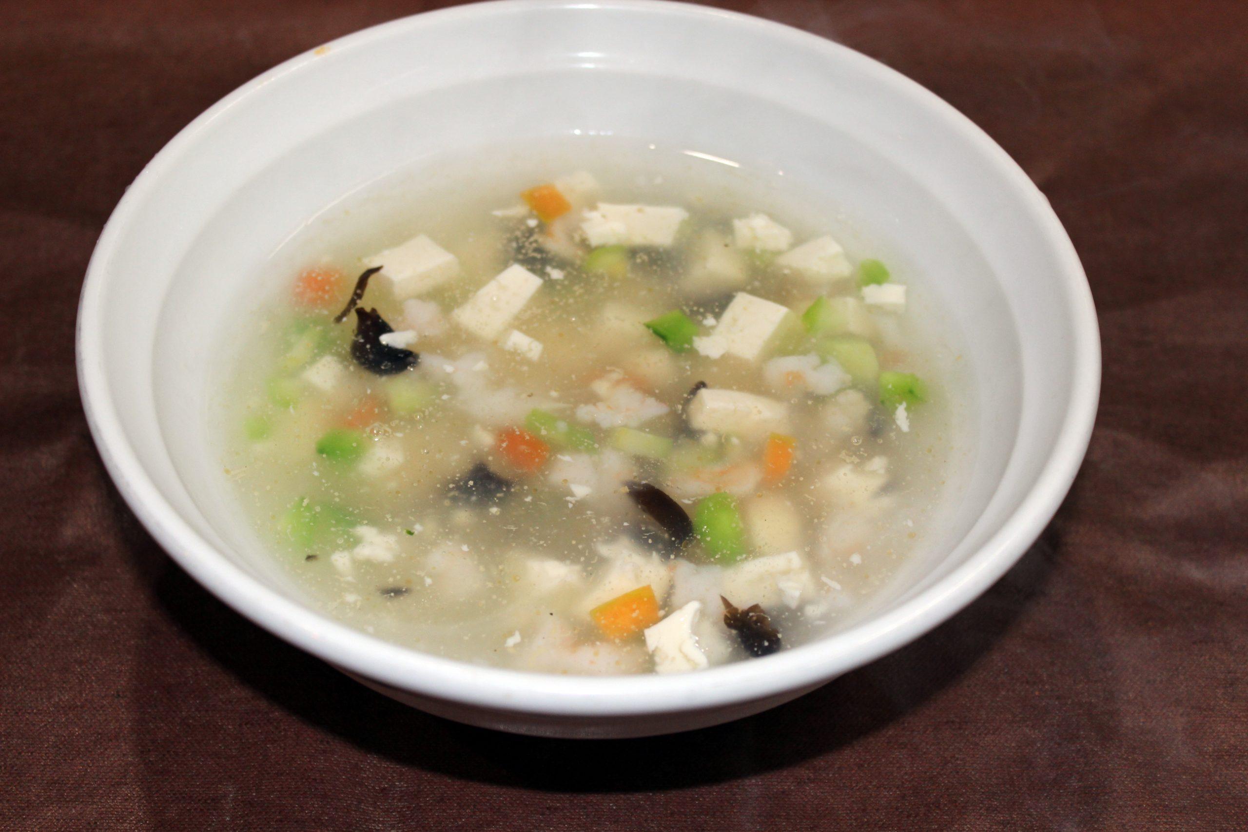 【蝦仁豆腐湯】海老と豆腐のスープ