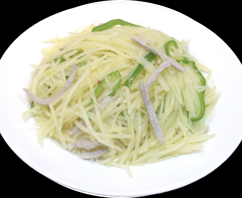【炒土豆絲】豚肉とジャガイモの細切り炒め